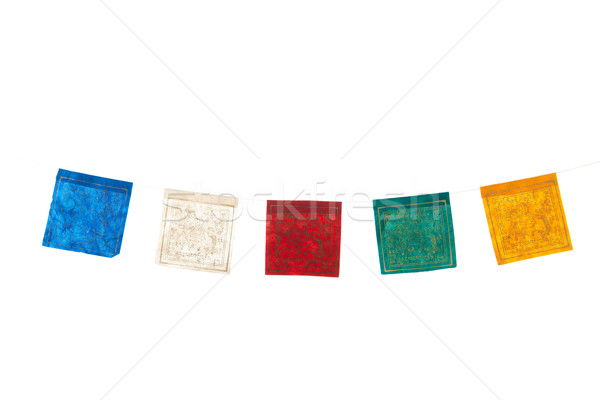 Buddhism flags in a row Stock photo © ivonnewierink