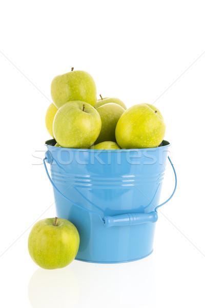 Bucket green apples Stock photo © ivonnewierink