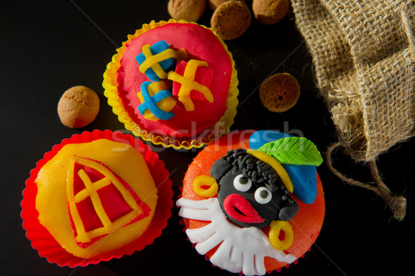 Stock photo: Sinterklaas cup cakes