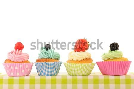 Stockfoto: Verjaardag · kleurrijk · boter · room · vruchten