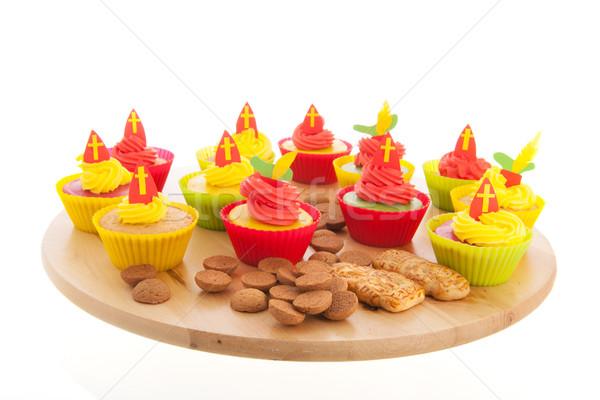 Stock photo: Sinterklaas cupcakes