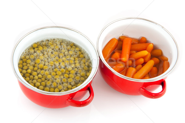 red pans with vegetables Stock photo © ivonnewierink