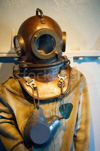 Vintage Diver кукла внутри металл Сток-фото © ivonnewierink