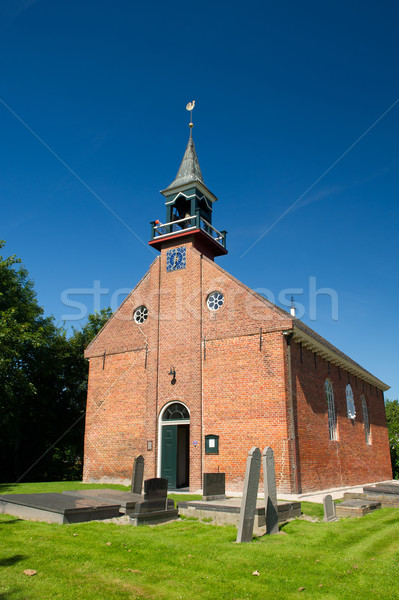 Dutch church in province Groningen Stock photo © ivonnewierink