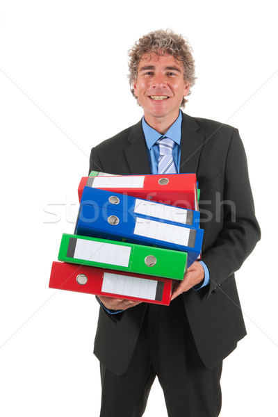 Business man with heavy archive Stock photo © ivonnewierink
