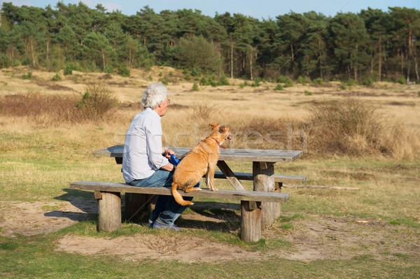 Man with dog Stock photo © ivonnewierink