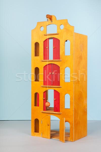 Houten speelgoed magazijn huis achtergrond speelgoed vintage Stockfoto © ivonnewierink