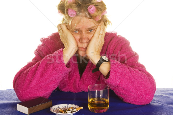depressive housewife Stock photo © ivonnewierink