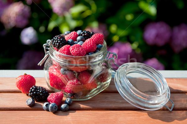 Bos vruchten outdoor diversiteit glas tuin Stockfoto © ivonnewierink