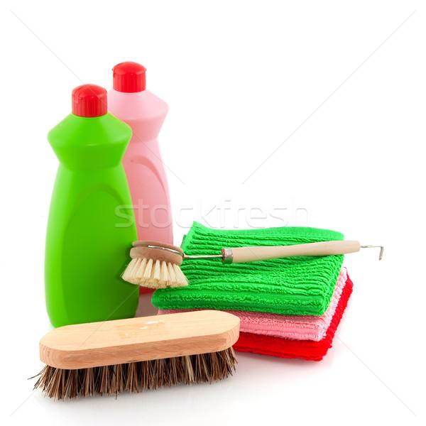 моющее средство бутылок мытье посуды одежды мыло мыть Сток-фото © ivonnewierink