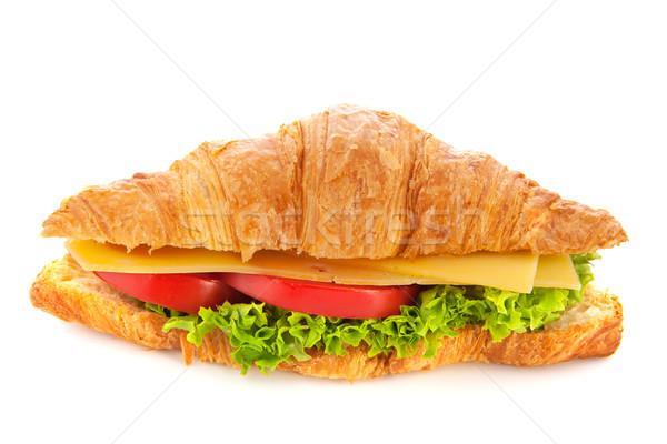 Foto stock: Frescos · croissant · queso · hortalizas · aislado · blanco