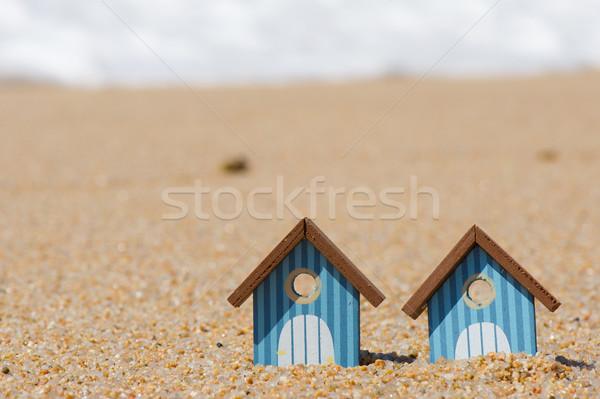 пляж миниатюрный воды линия пейзаж морем Сток-фото © ivonnewierink