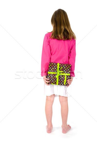 Girl with present Stock photo © ivonnewierink