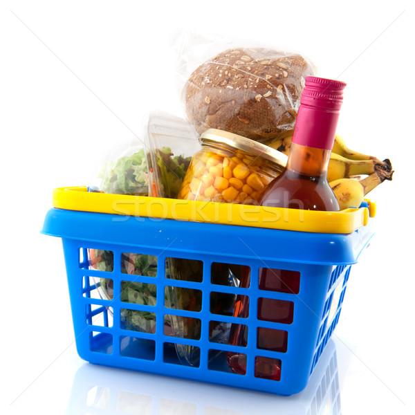 日々 ショッピング 食品 ワイン 青 ストックフォト © ivonnewierink