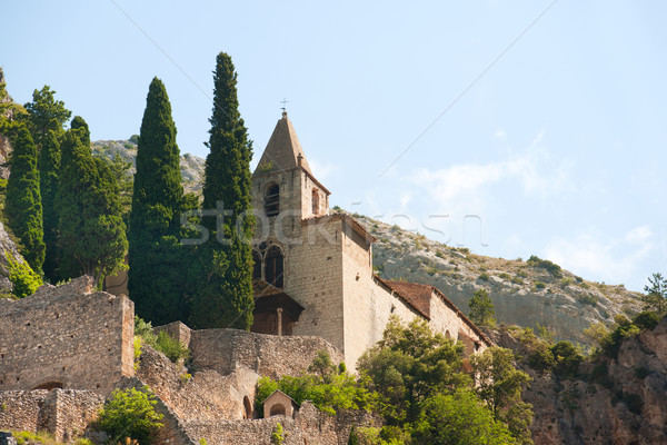 Church in Moustiers st marie Stock photo © ivonnewierink