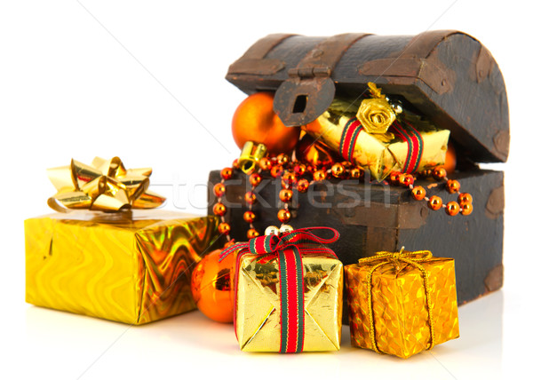 Treasury box for Christmas Stock photo © ivonnewierink