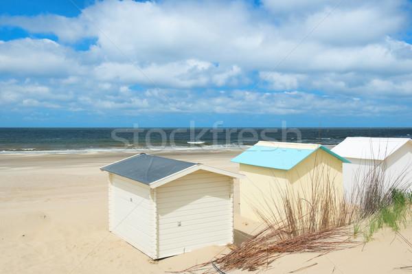 Beach huts at Texel Stock photo © ivonnewierink