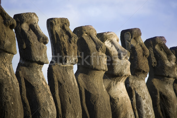 statues at easter island Stock photo © ivonnewierink