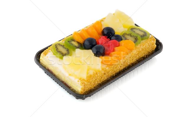 Fruitcake vers fruit ananas vers zoete kiwi Stockfoto © ivonnewierink