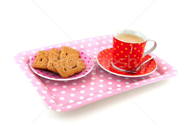 Coffee with cookies Stock photo © ivonnewierink