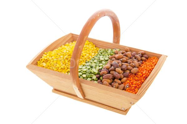 Basket with assortment legumes Stock photo © ivonnewierink