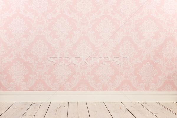 Vintage wall and wooden floor Stock photo © ivonnewierink
