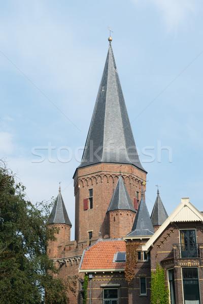 church tower in center village Stock photo © ivonnewierink
