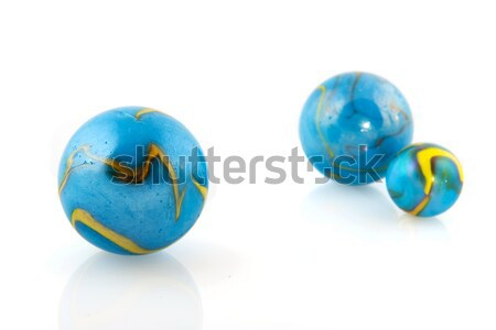 Blue marbles Stock photo © ivonnewierink