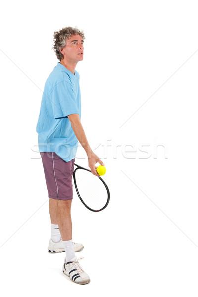 Stockfoto: Tennisspeler · man · spelen · tennis · sport · achtergrond