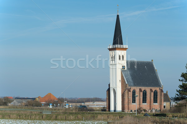Church at the Dutch island Texel Stock photo © ivonnewierink