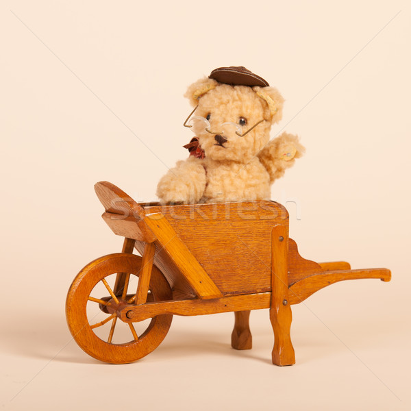 Bear in wheel barrow Stock photo © ivonnewierink