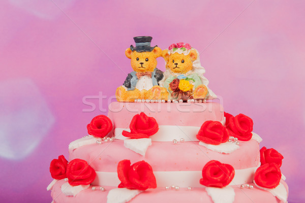 Wedding cake with bears Stock photo © ivonnewierink