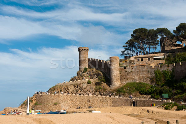 Foto stock: Castillo · espanol · costa · playa · edificio · naturaleza