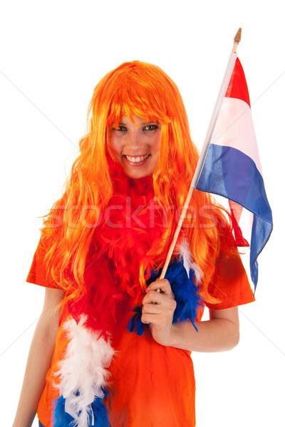 Dag holland meisje vieren vrouw sport Stockfoto © ivonnewierink