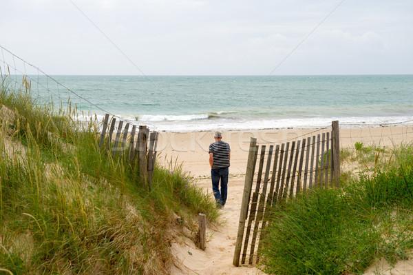 Beach island de Oleron France Stock photo © ivonnewierink