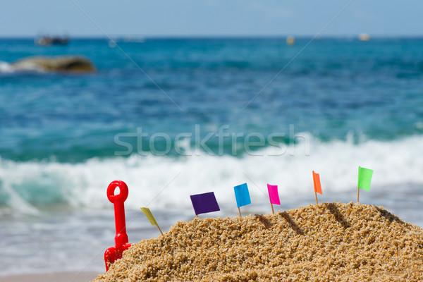 Sand castle at beach Stock photo © ivonnewierink