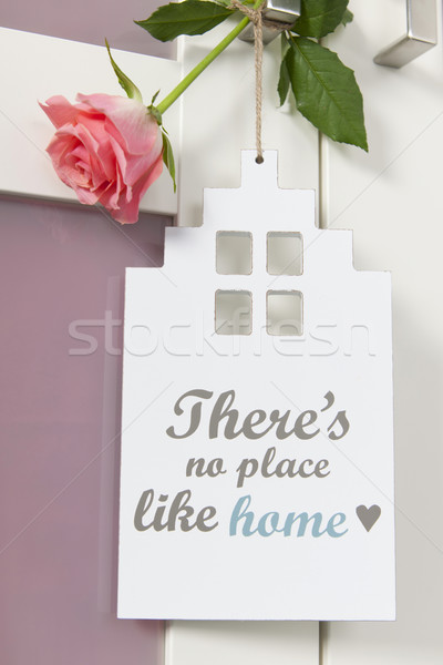 Deur hanger geen plaats zoals home Stockfoto © ivonnewierink