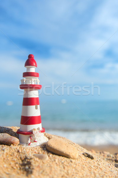 Lighthouse at the beach Stock photo © ivonnewierink