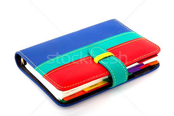 Organizador colorido casa azul diário Foto stock © ivonnewierink