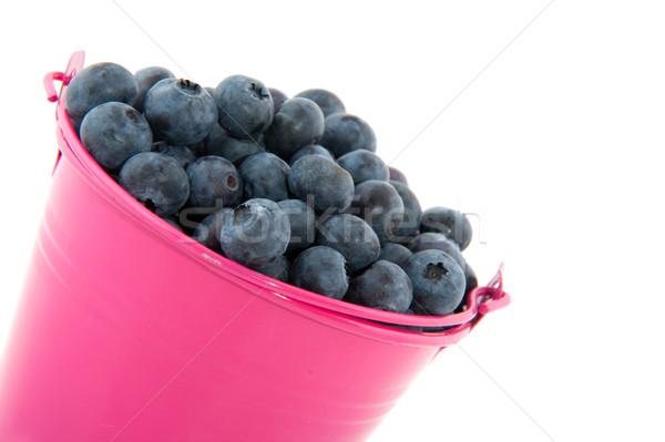 Bucket blueberries Stock photo © ivonnewierink