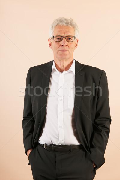 Handsome senior man Stock photo © ivonnewierink