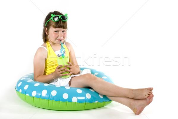 Swimming girl Stock photo © ivonnewierink