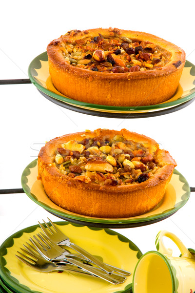 apple pies with nuts Stock photo © ivonnewierink