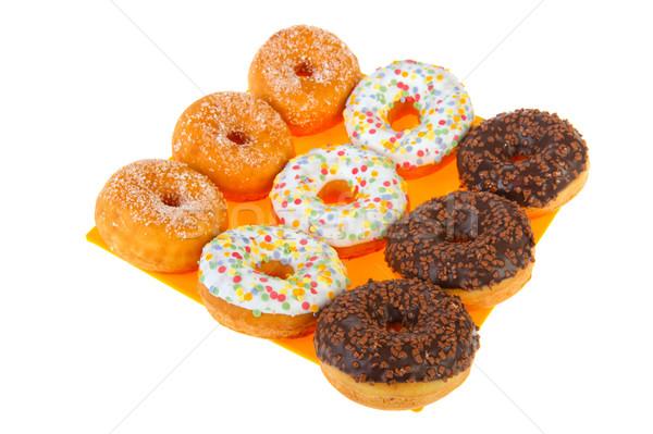 Sugary donuts with colorful glaze Stock photo © ivonnewierink