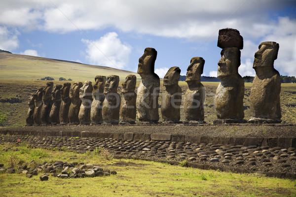 Ilha de Páscoa pedra parque ilha história Foto stock © ivonnewierink