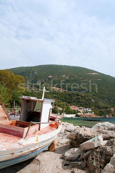 Greek landscape at Lefkas Stock photo © ivonnewierink