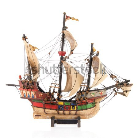 Sailboat made of clog Stock photo © ivonnewierink