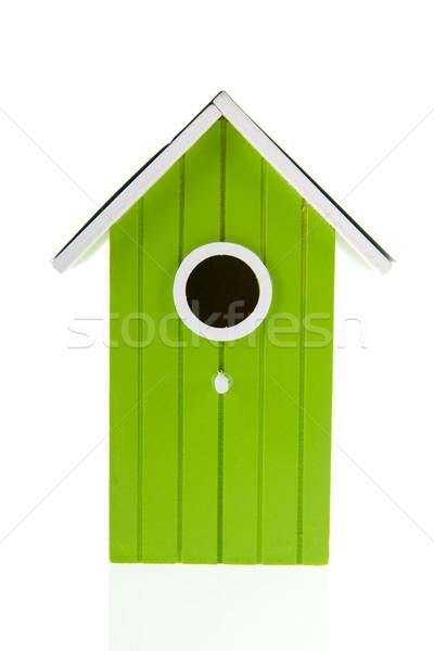теплица зеленый птица дома дыра изолированный Сток-фото © ivonnewierink