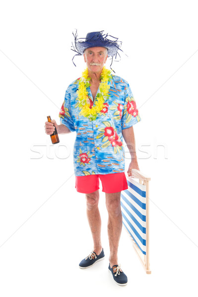 Senior man walking to the beach Stock photo © ivonnewierink
