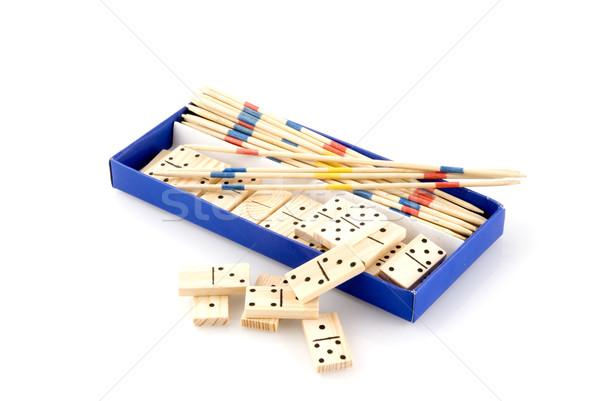 Kutu oyunları iş el mavi oynamak Stok fotoğraf © ivonnewierink
